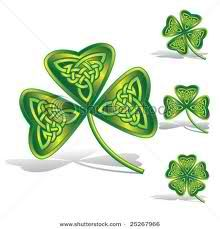 Shamrocks with Celtic knots