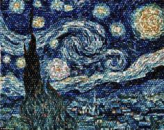 Hubble telescope Starry Night, by Alex Parker; an astrophysicist put together pictures taken with the Hubble telescope into Van Gogh's Starry Night. Van Gogh saw what Hubble would much later in our history Vincent Van Gogh, Hubble Pictures, Hubble Images, Hubble Photos, Pictures Images, Space Photos, Space Images, Fotos Do Hubble, Telescope Images