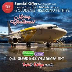 Merry Christmas and Happy New 2017 Year! Don't miss special private car transfer rates from #Dalaman airport to #Fethiye, #Hisaronu and #Oludeniz for summer 2017. They are available till DEC 31! #dalamanairport #dalamantransfer #dalamantaxi #christmas #turkey