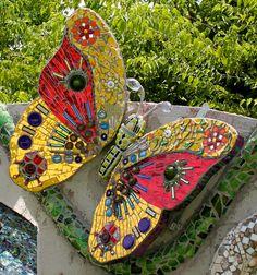 Butterfly - 2015 WIP detail:  The Garden of Peace, Smither Park, Houston, TX by Plum Art Mosaics (Sharon Plummer)