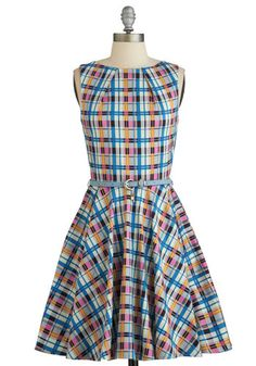 Luck Be a Lady Dress Blue Plaid. If youve been searching for a charming new frock, then youre in luck! NaN