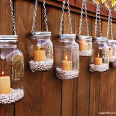 Hanging Mason Jar Garden Lights -