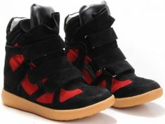 Isabel Marant Sneaker Bekket High-top Suede Rouge Noir €153.90