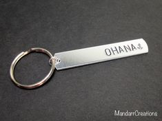Ohana Keychain Accessory for Family Members by MandarrCreations