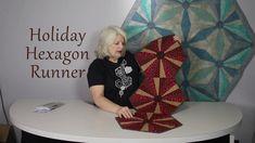 Cheryl Phillips Holiday Runner Download the free pattern Here: https://www.phillipsfiberart.com/shop/c/p/Holiday-Hexagon-Runner-x30561082.htm