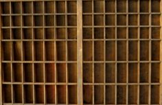 Letterpress drawers