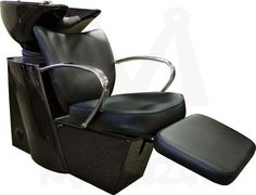 Vantage Reclining Backwash System with Black Chair and Black Bowl