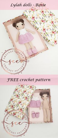 Crochet dolls 339177415692093820 - Lylah doll – Rosie FREE pattern – Swecraftcorner Free crochet pattern Crochet doll pattern Source by verotipuce Doll Amigurumi Free Pattern, Crochet Shoes Pattern, Crochet Dolls Free Patterns, Amigurumi Doll, Pattern Dress, Shoe Pattern, Crochet Whale, Crochet Toys, Cotton Crochet