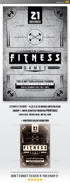 428 Best Fitness Flyer Template images | Fitness flyer