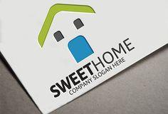 Sweet Home Logo by josuf on Creative Market Badge Template, Logo Templates, Business Brochure, Business Card Logo, Music Festival Logos, Company Slogans, Home Logo, Creative Sketches, Pencil Illustration