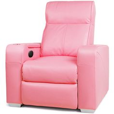 Premiere Home Cinema Chair Pink | Cinema Seating Massage Chair Recliner - Buy at drinkstuff