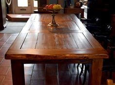 Großer Esstisch, Eiche, ca. 1900 Dining Table, Rustic, Antiques, Furniture, Home Decor, Tall Dining Table, Oak Tree, Country Primitive, Antiquities