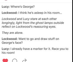 Hmm, I'll have to remember to do this on my new sleepover... Lockwood and Co.
