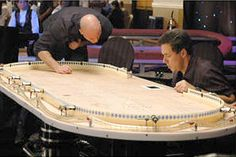 Link to wood plans for a variety of projects. Gaming Table Diy, Diy Table, Man Cave Room, Man Cave Home Bar, Diy Projects To Sell, Diy Wood Projects, Poker Table Plans, Board Game Table, Game Tables
