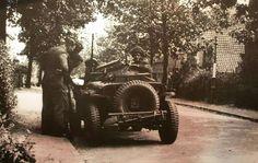 Recce Jeep, Oosterbeek,  September 1944.