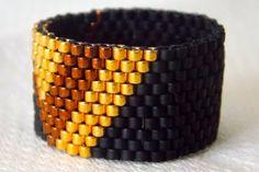 Peyote Ring Wide beaded Ring Unisex Ring by DezodDaughtersStudio