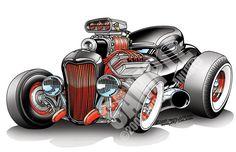 Hot Rod Art | Hemi-Powered 32 Ford Hot Rod