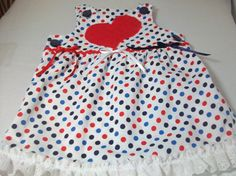 Patriotic Baby Girl Clothes  Baby Suntop  and by PeaPodLilFrogs, $28.00