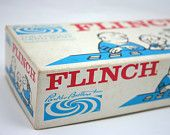 Vintage game, Flinch, card game, Parker Brothers, numbers, family game night, rainy day fun, numerical card game