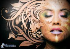 Gesicht, abstrakt