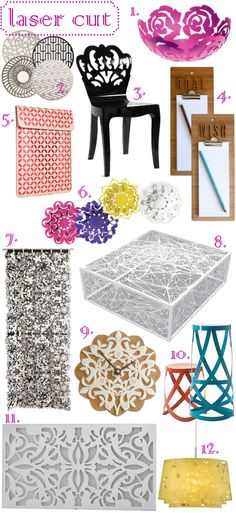 laser cut #chairs #mirrors #homedecorations