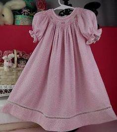 VIVE LA FETE SZ 18 MO FRENCH EMBROIDERED SMOCKED PINK FLORAL LONG DRESS LIK NU! | eBay