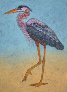 The Walking Stalker Great Blue Heron - Bonnie Murray