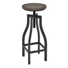 Z-Line Designs Nori Adjustable Barstool in Black/Espresso