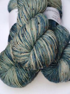 Hand Dyed Fingering/Sock Yarn, Superwash Merino/Nylon, Ocean