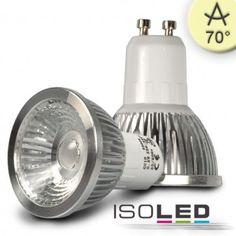 GU10 LED STRAHLER 5,5W COB, 70° WARMWEISS, DIMMBAR / LED24-LED Shop