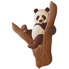 Woodworking Patterns Product - Woodworking pattern of a Panda scroll saw Intarsia Pattern. Panda sitting in the crook of a tree. This is the very first pattern we created in Intarsia Woodworking, Woodworking Books, Cool Woodworking Projects, Woodworking Patterns, Woodworking Skills, Woodworking Techniques, Popular Woodworking, Custom Woodworking, Teds Woodworking
