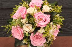 Pink Preserved Rose Bouquet Pink and Ivory by SmokyMtnWoodcrafts, $198.00