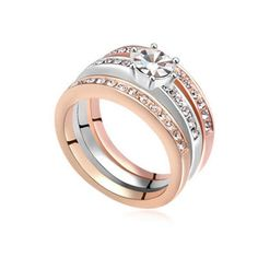 MIMI Preciosa Crystal Triple Rings - Classy Trio :http://mimimoreau.com/product/mimi-preciosa-crystal-triple-rings/