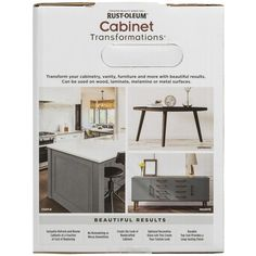 Rust-Oleum Transformations Dark Color Cabinet Kit will give your outdated cabinets a beautiful makeover.