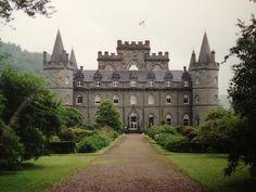 Main entrance to Inveraray Castle, Inverary, Argyll and Bute, Scotland, UK