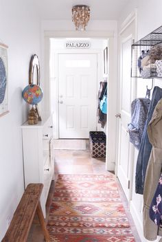 Organizing a Small Entry & A Hall Makeover {A Townhouse Update}                                                                                                                                                     More