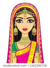 Indian Illustration, Couple Illustration, Bride Clipart, Ganesha Drawing, Rajasthani Art, Islamic Cartoon, Family Drawing, Madhubani Art, Celebrity Drawings