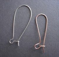 How to Make Long Kidney Ear Wires Tutorial - The Beading Gem's Journal