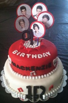 One Direction 1-D 1D birthday cake