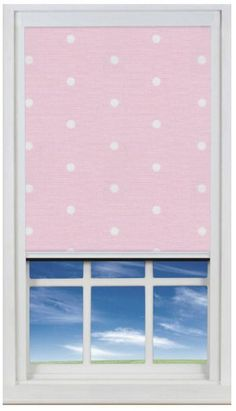Pink Polka Dots Black Out Blinds for Children's Bedroom Windows. Bloc Blinds' Award Winnning BlocOut Blind provides total darkness for a great night's sleep.