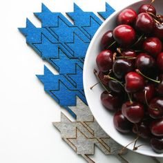 Houndstooth Table Tile Blue now featured on Fab.