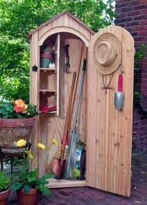 Buy Storage Shed Kits for your DIY Wood Shed. Easy DIY panelized kit can be setup in a weekend. Cedar makes an attractive outdoor storage building. Wooden Storage Sheds, Storage Shed Kits, Outdoor Storage Sheds, Garden Tool Shed, Garden Tool Storage, Garden Sheds, Fenced Garden, Indoor Garden, Outdoor Gardens