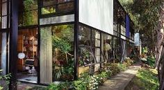 Eames House/Studio (also known as Case Study House No. - Charles and Ray Eames, 1949 Los Angeles Charles & Ray Eames, Dream Apartment, Brick Fireplace, Home Studio, Interior Inspiration, Sweet Home, Exterior, Building, Case Study