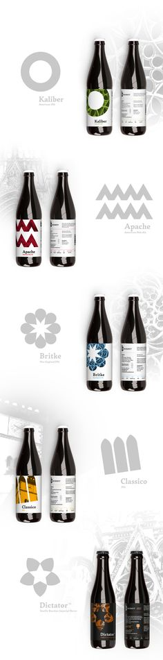 beer labels for BERHET Brewery