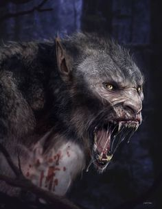 My Vamp LYCAN character concept image. lycans llook more human in tha face keep… Arte Horror, Horror Art, Fantasy Creatures, Mythical Creatures, Dark Fantasy, Fantasy Art, Werewolf Art, Ange Demon, Vampires And Werewolves