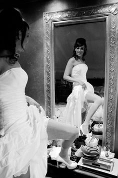 Bruiloften in de spiegel kijken hoe je eruit ziet :)