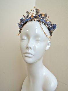 Ballet Tiara Headpiece crystal beads. I love the stars & moons theme