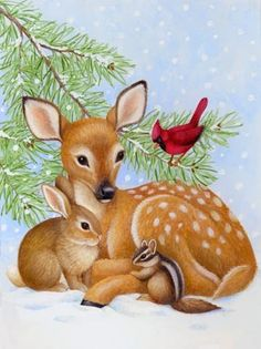 Fawn and Friends -- by Stephanie Stouffer