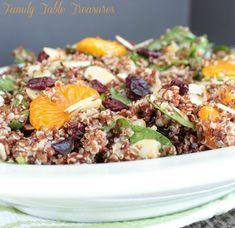 Cranberry Quinoa Salad {with Mandarin Oranges & Almonds}