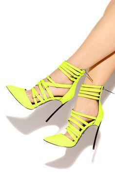Lola Shoetique - Haute Drama - Neon Yellow, $199.00 (http://www.lolashoetique.com/haute-drama-neon-yellow/)